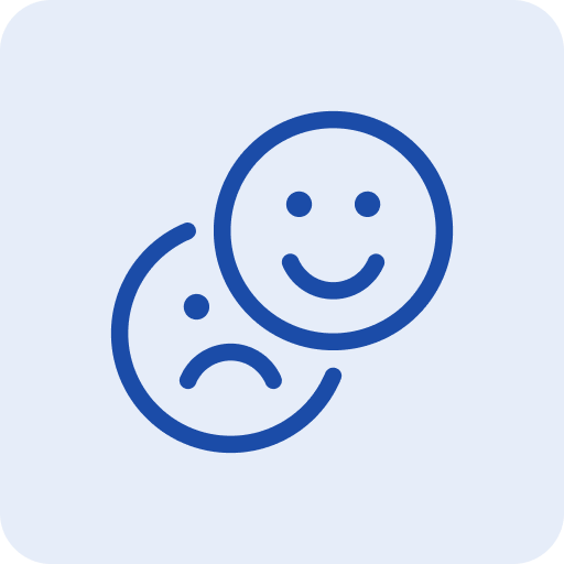 Customer rating and reviews icon